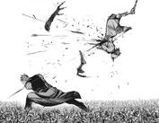 Arima slashes Sasaki
