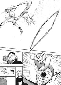 Mutsuki detaches fragment of his kagune