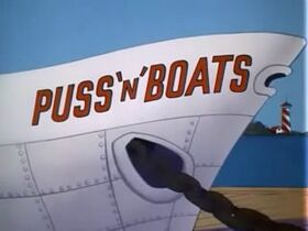Puss n Boats Title Screen
