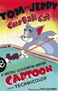 Cue Ball Cat poster