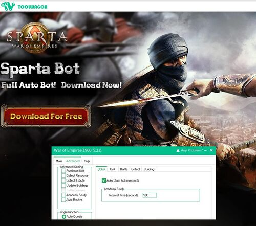 Sparta  web game helper