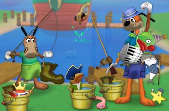 Toons fishing