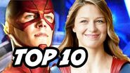 The Flash Season 2 Supergirl Crossover TOP 10 WTF - World's Finest