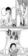 Komatsu taking out the knife