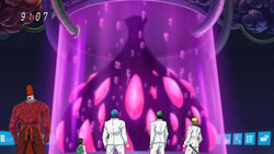 The group finding the Meteor Garlic ep96