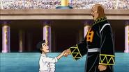 Wabutora shakes hands