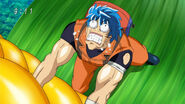 Toriko trying to pull out a corn