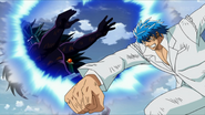 Toriko punches Star away