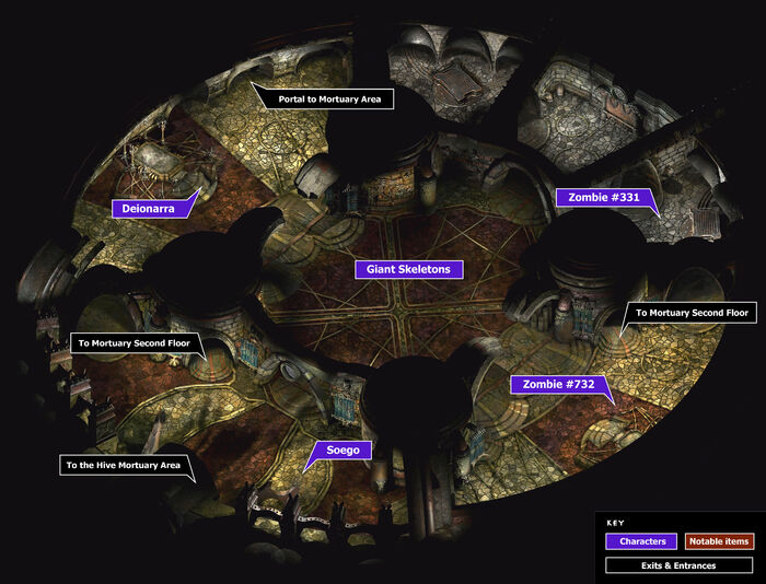 Mortuary1st floor map