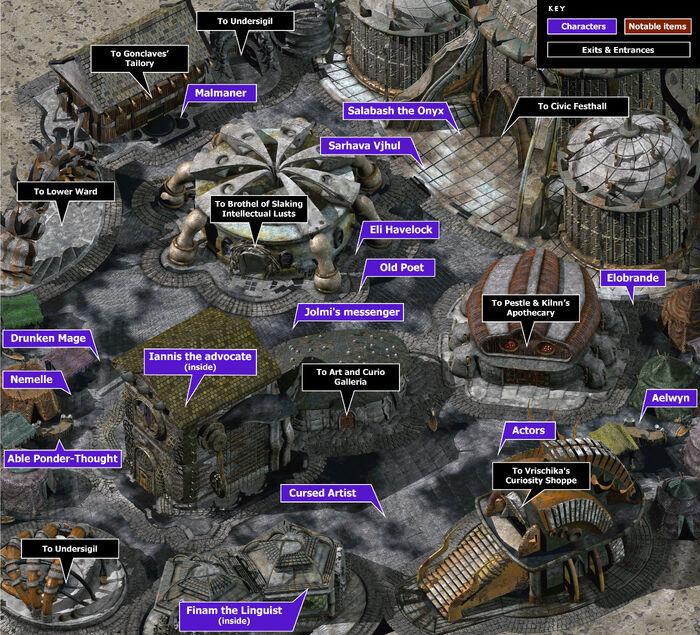 Clerks ward map