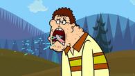 Sam burps