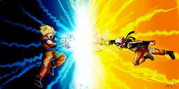 Naruto vs goku by mikkup