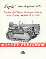 MF 44 crawler b&w brochure - 1964