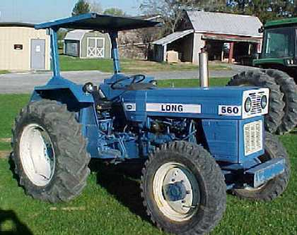 Long 610 Tractor - YouTube