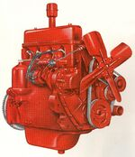 International C-123 engine Farmall 200 1955