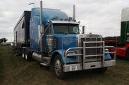 Peterbilt tractor unit V73 OKP - at Roadless 90 event - IMG 3407