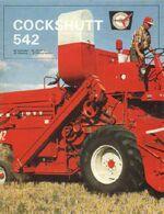 Cockshutt 542 combine ad
