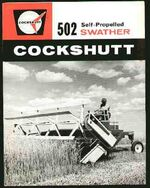 Cockshutt 502 swather brochure - 1965