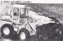 A 1980s BRAY AG4400 4X4 Diesel Loader