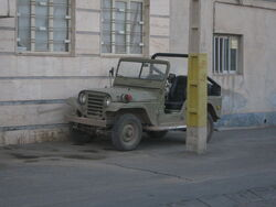 Jeep parked near street lamp - Qavvami ave - Nishapur 2