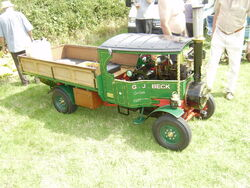 Model Steam lorry