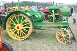 Waterloo Boy tractor (lhs) at GDSF 08 - IMG 0653