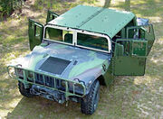 Marine humvee with bolt-on armor x2