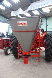 Teagle fertiliser spreader on BMC tractor at Bath 2011 - IMG 8264