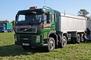 Volvo FM 400 8x4 Tipper YJ09 FCD at Scorton NY 09 - IMG 2364 edited
