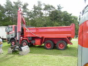 JC Ball 8x4 Tipper with Grab loader at Cromford 08 - P8030332