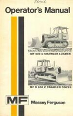 MF 600C & D 600C crawler b&w operator's manual