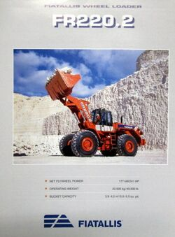Fiat-Allis FR220.2 wheel loader brochure - 1995