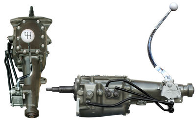 Ford Design 3-speed OD Transmission w. Hurst Shifter