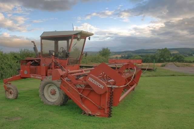 Fiat Hesston Tractors Farm : Image hesston rape swather browson bank farm geograph