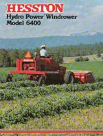 Hesston 6400 swather brochure