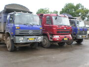 3 Lifan trucks in Yunnan