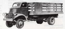 K-33 flatbed truck