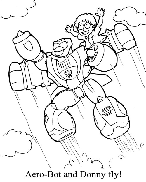 transformer bumblebee coloring pages evil starscream from - Rescue Bots Coloring Book