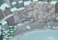 Animated cartoon Detroit devastation
