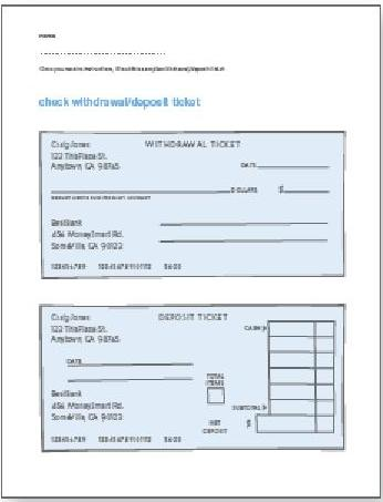 Printables Blank Checks Worksheet volunteer guide kids checking savings global money wiki make sure to have extra copies of the worksheets in case students want more than one check