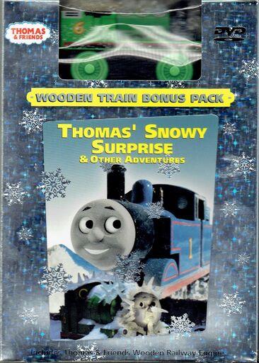 File:Thomas'SnowySurprise&OtherAdventuresDVDWithWoodenRailwayJackFrostPercy.jpg