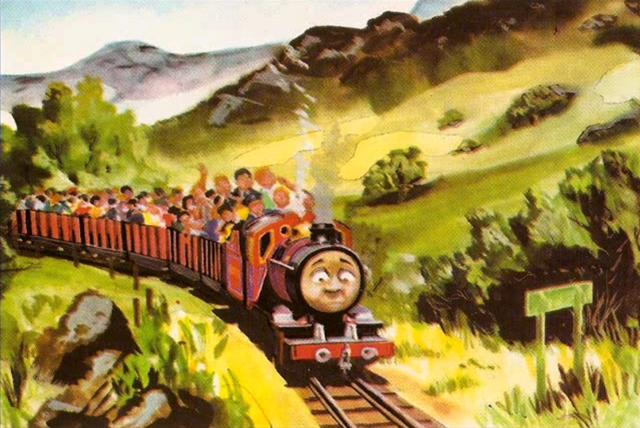 原作第22巻のアールズデール鉄道の乗客