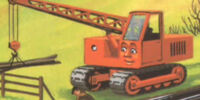 The Orange Caterpillar Crane
