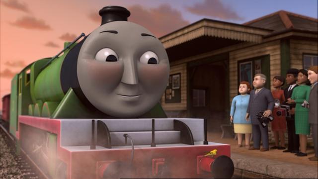 TV版第13シーズンの水色のカーディガンを着た女性