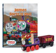 WoodenRailwayJamesSortsItOutBookPack