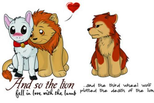 The-lion-fell-in-love-with-the-stupid-lamb