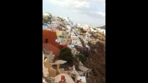 Amazing sunset over Santorini video