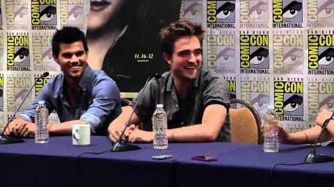 Breaking Dawn Part 2 Comic Con 2012 Panel 1 - Robert Pattinson, Kristen Stewart, Taylor Lautner