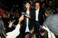 Nikki Reed signs autographs for fans