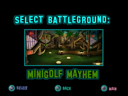 Twisted Metal - Small Brawl - Minigolf Mayhem lvlsel